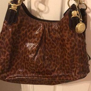 Coach leopard patent bag